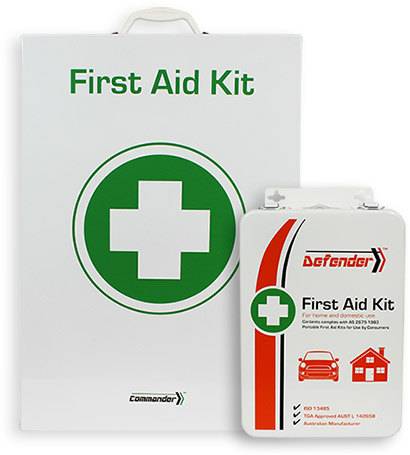 Tough metal first aid cabinets and cases